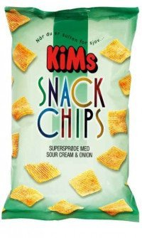 Kims snack chips sour cream and onion