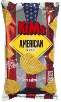 Kims American Grill Chips 175g