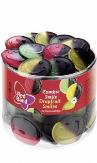 Red Band zombie smile